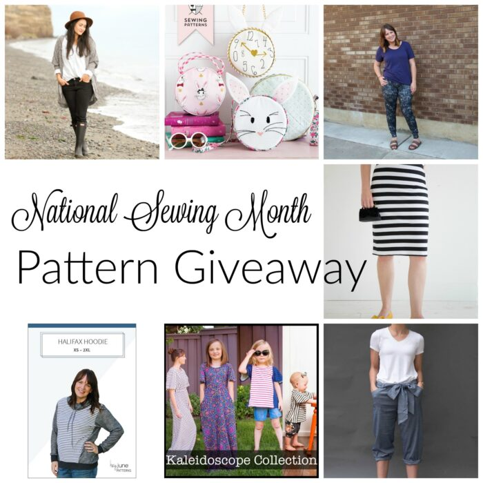 National Sewing Month Sewing Patterns Giveaway - The Polka Dot Chair