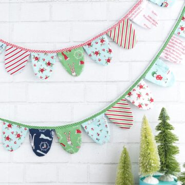 How to make a cute fabric banner for Christmas or any other holiday! A free project included with a Cricut Maker Machine.