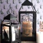 DIY Halloween Decor ideas; Haunted Mansion Inspired Lanterns