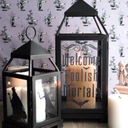 DIY Haunted Mansion Inspired Lanterns by Melissa Mortenson of polkadotchair.com