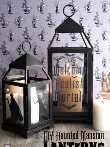 DIY Haunted Mansion Inspired Lanterns by Melissa Mortenson of polkadotchair.com