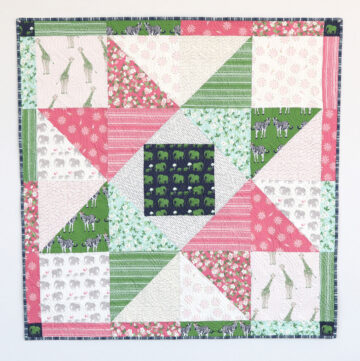 Patchwork Star Baby Quilt Tutorial by Diary of a Quilter