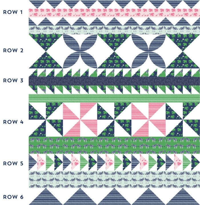 Seasonal Safari Quilt Pattern - offered as a free quilt along this Fall from the polkadotchair.com blog! This week we are learning how to make flying geese quilt blocks