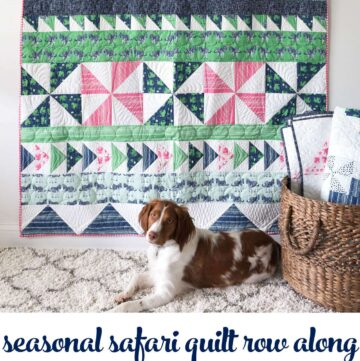 Seasonal Safari Quilt Pattern - offered as a free quilt along this Fall from the polkadotchair.com blog!