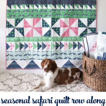 Seasonal Safari Quilt Row Along; Row 4