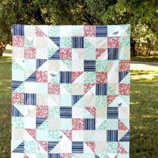 Cute free Lap Quilt Tutorial, the Hidden Safari Party quilt -