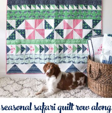 Seasonal Safari Row Along; How to Make Flying Geese Blocks; Row 6