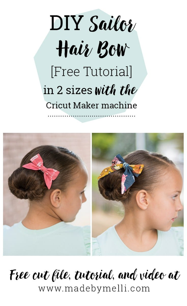 Free tutorial for a Sailor Hair Bow by Made by Melli
