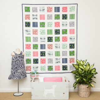 Easy Charm Pack Quilt Pattern with Safari Party Fabrics from Riley Blake Designs