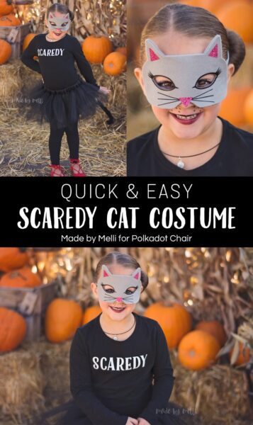 Quick and Easy DIY Scaredy Cat Costume ? {including tutu tutorial!}
