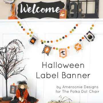 Fabric Halloween Banner Tutorial and Free Pattern