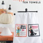 Scrap Busting DIY Halloween Tea Towels