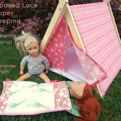 Doll sleeping bag tutorial by Ameroonie Designs. A cute sleeping bag sewing pattern for an american girl doll. Would make a fun gift! #americangirldoll #dollsleepingbag #sleepingbag #sewing #sewingpattern #freesewingpattern #freesewingpatterns #18dollpattern