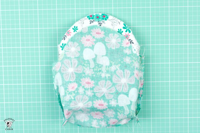 purse pieces together right sides facing