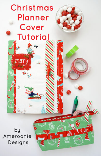 DIY Christmas Planner Cover Tutorial