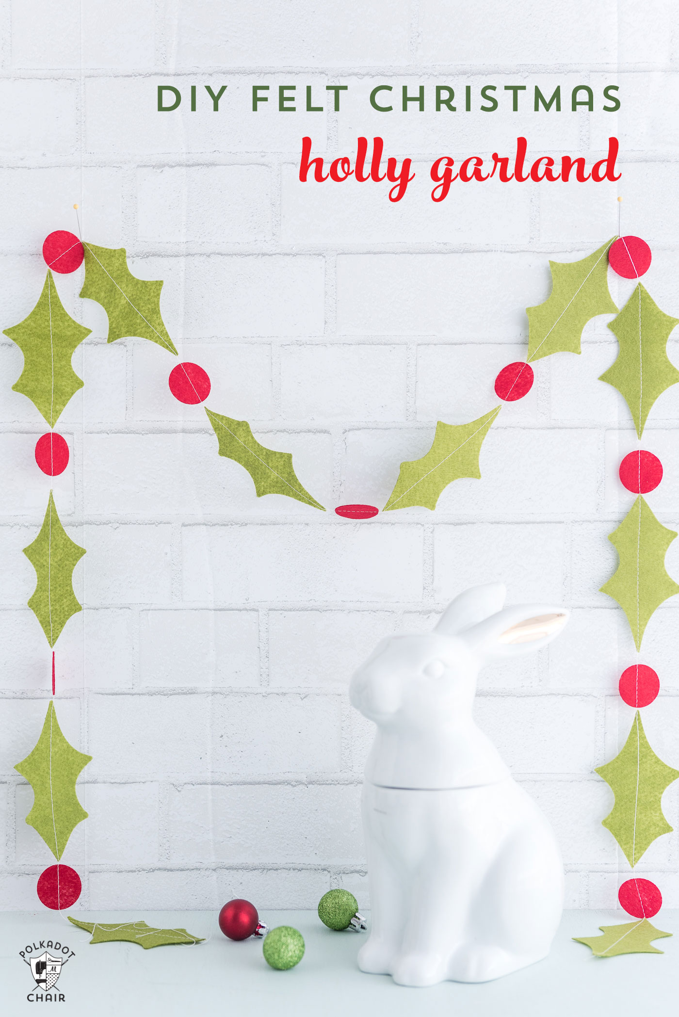 How To Make A Simple Holly Berry Felt Christmas Garland A Cricut