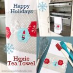 Hexie Christmas Tea Towel Tutorial