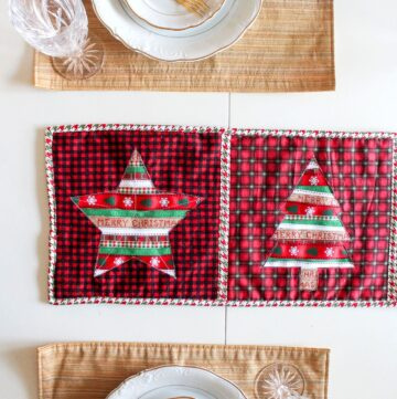 Reverse Applique Christmas Table Runner Tutorial