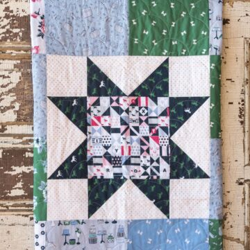 Simple Sawtooth Star Baby Quilt