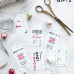 Free Printable Gift Tags for Handmade Gifts - gift tags for sewing gifts or knit gifts. #freeprintables #gifttags