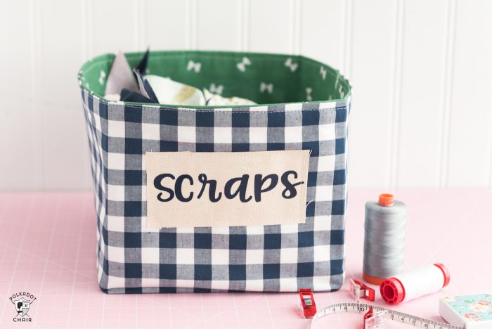 Fabric Basket Sewing Pattern for the Cricut Maker | The Polka Dot Chair