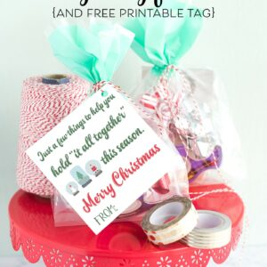 "Last Minute Neighbor Gift Ideas - a ""punny"" and simple gift idea- just wrap up some tape and twine and attach a cute tag! #neighborgifts #lastminutegifts #christmasgifts"