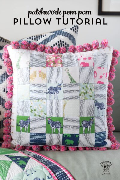 Pom Pom Patchwork Pillow Pattern