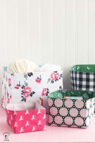 Handmade Fabric Basket Pattern : Tutorial fabric basket the polka dot chair