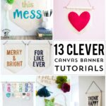13 DIY Canvas Banner and Pennat Tutorials