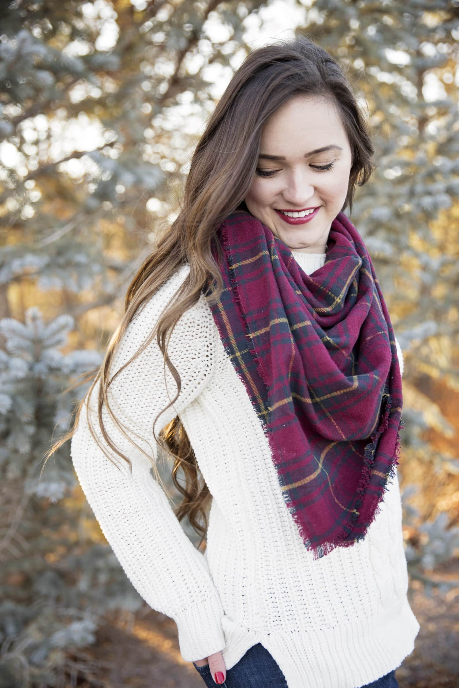 DIY Flannel Scarf Tutorial