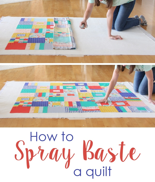 How to Spray Baste A Quilt