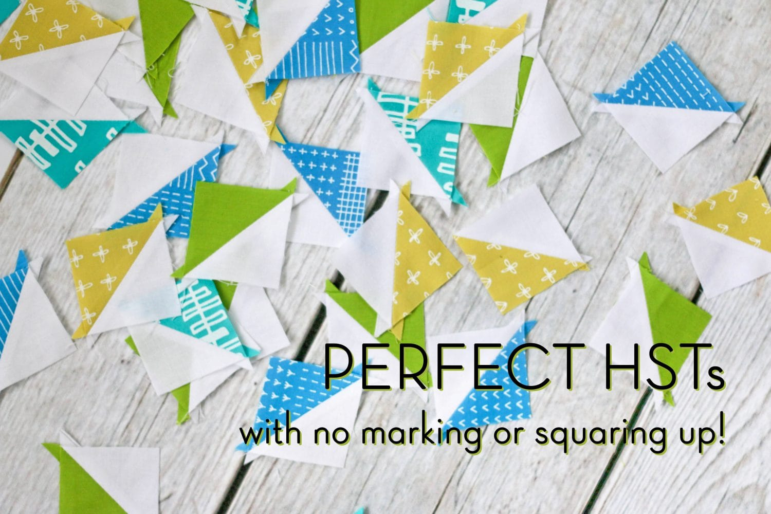 How to make perfect Half Square Triangles - uses paper templates