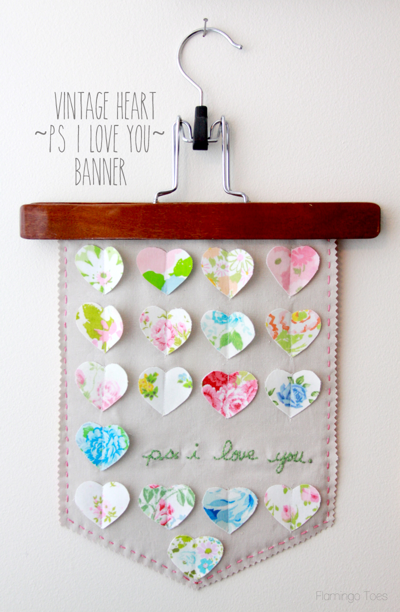 Creative DIY Fabric Banner Signs featured by top US sewing blog, Flamingo Toes