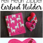 Felt Heart DIY Earbud Pouch
