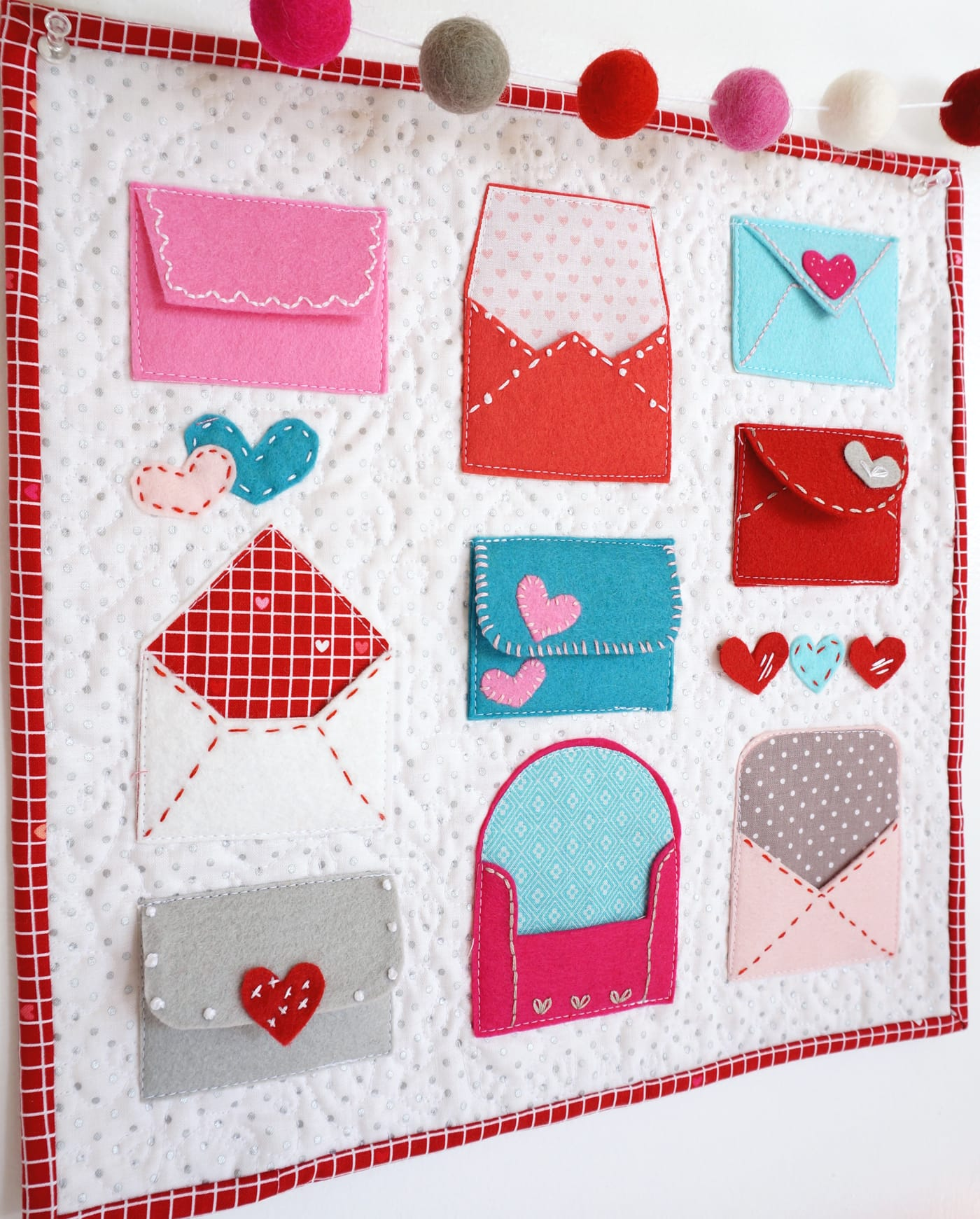 Valentine Felt Envelope Pattern The Polka Dot Chair