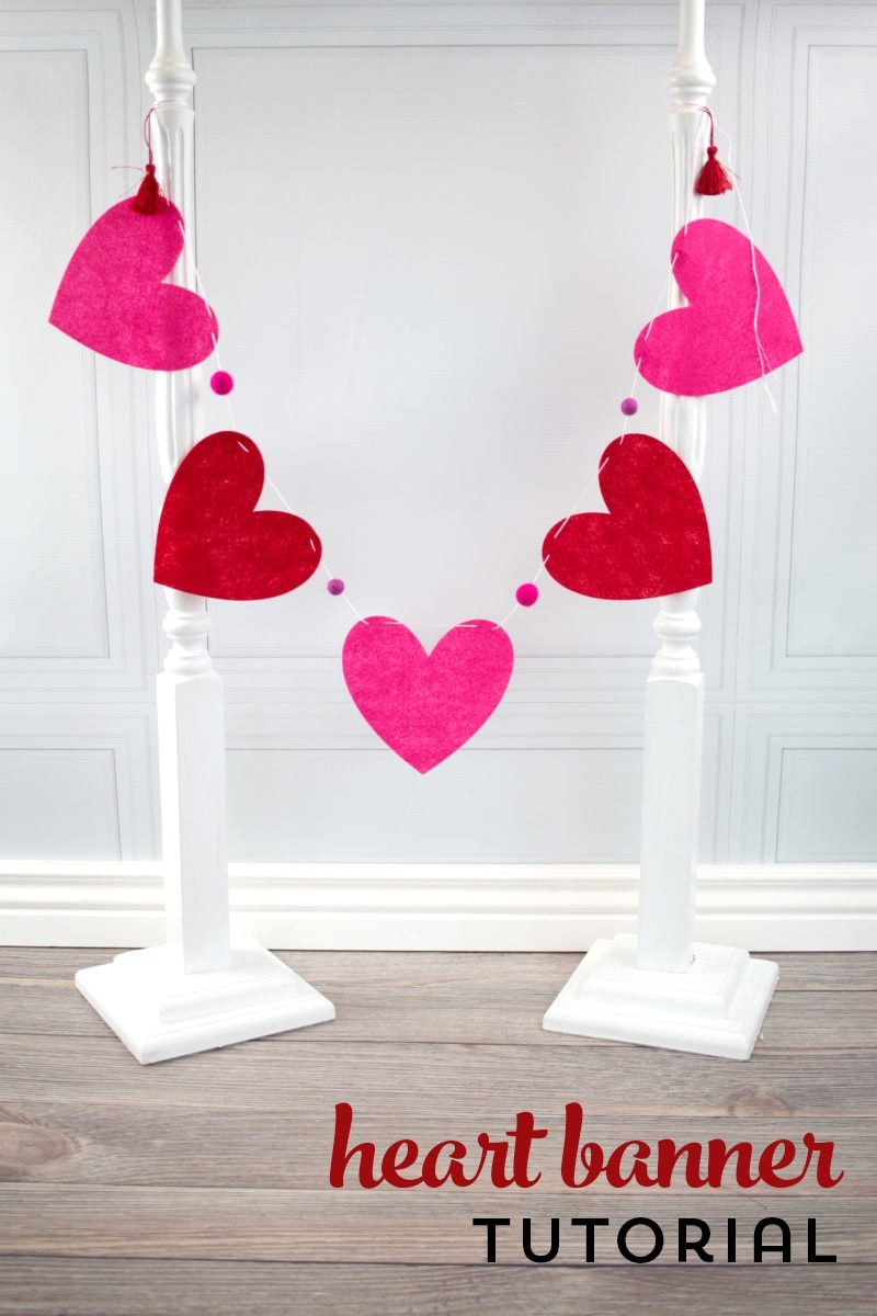 Heart Banner Tutorial; a Valentine's Day Craft Idea