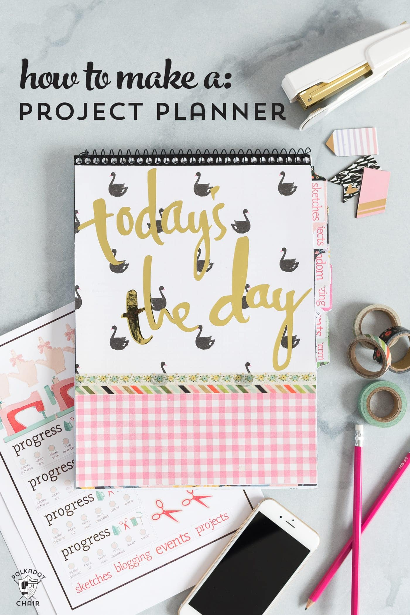 how to make a planner and create printable stickers the polka dot chair. Black Bedroom Furniture Sets. Home Design Ideas