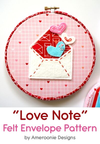 Valentine Felt Envelope Pattern