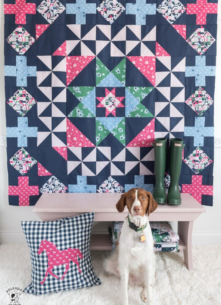 Patchwork Paddock Pattern by Melissa Mortenson featuring Derby Day Fabrics