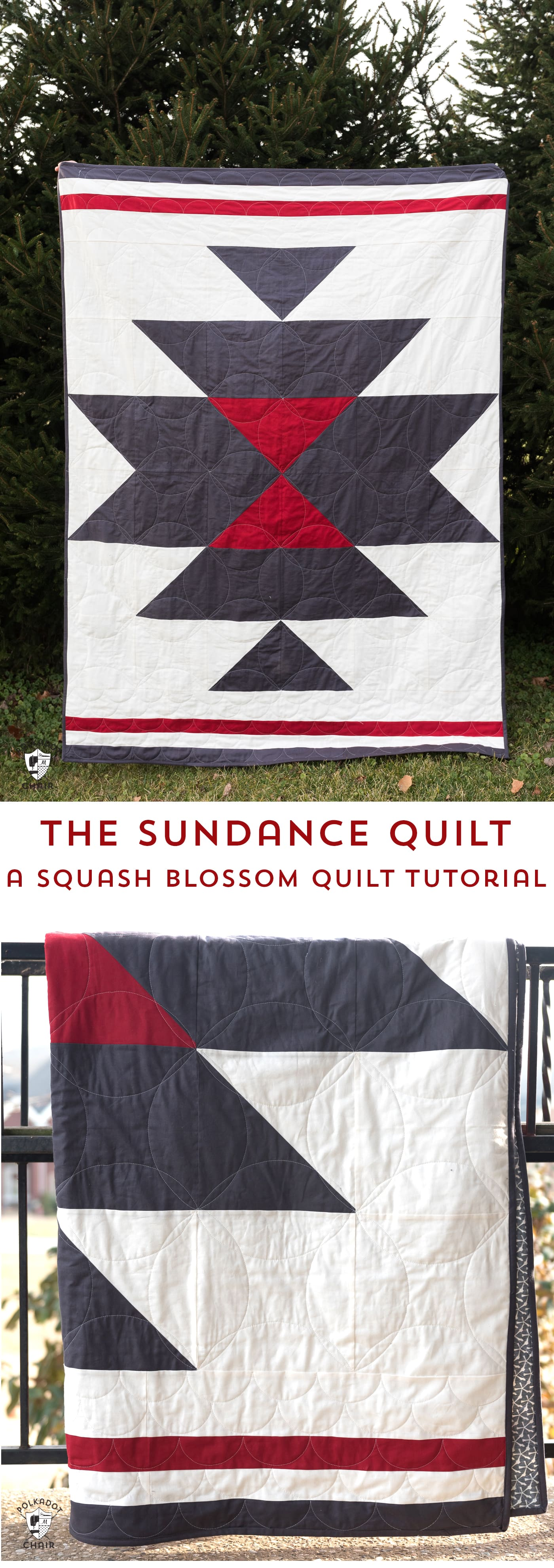 A free quilt pattern for a squash blossom quilt. A southwest style simple quilt pattern and free tutorial. #freequiltpattern #quilts #quilting #southweststyle #southwest #squashblossom