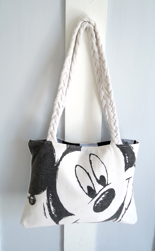 old mickey mouse t-shirt into a tote bag