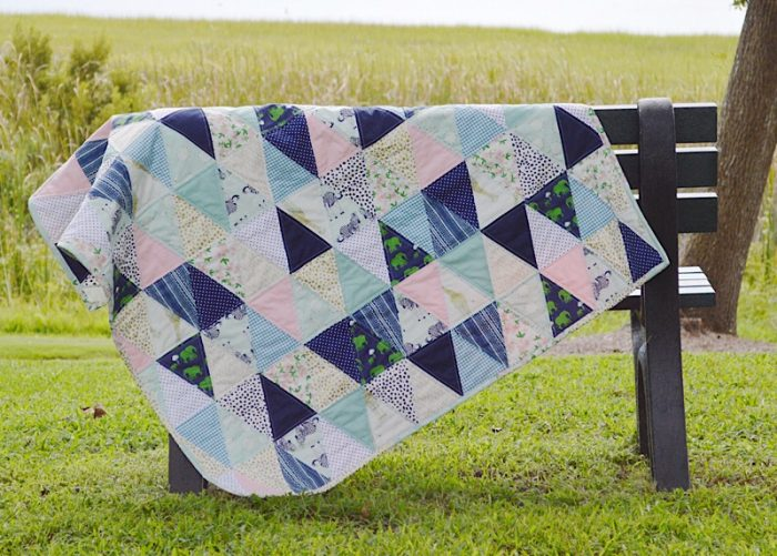 Triangle Baby Quilt Pattern