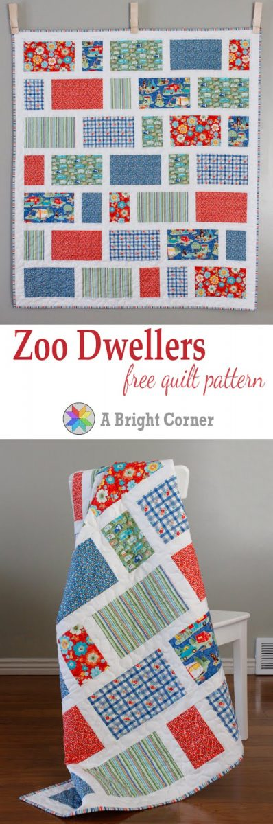 Zoo Dwellers Baby Quilt Pattern