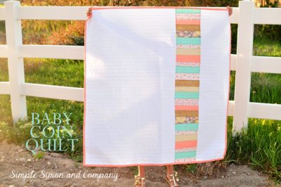 Simple Coin Baby Quilt Pattern