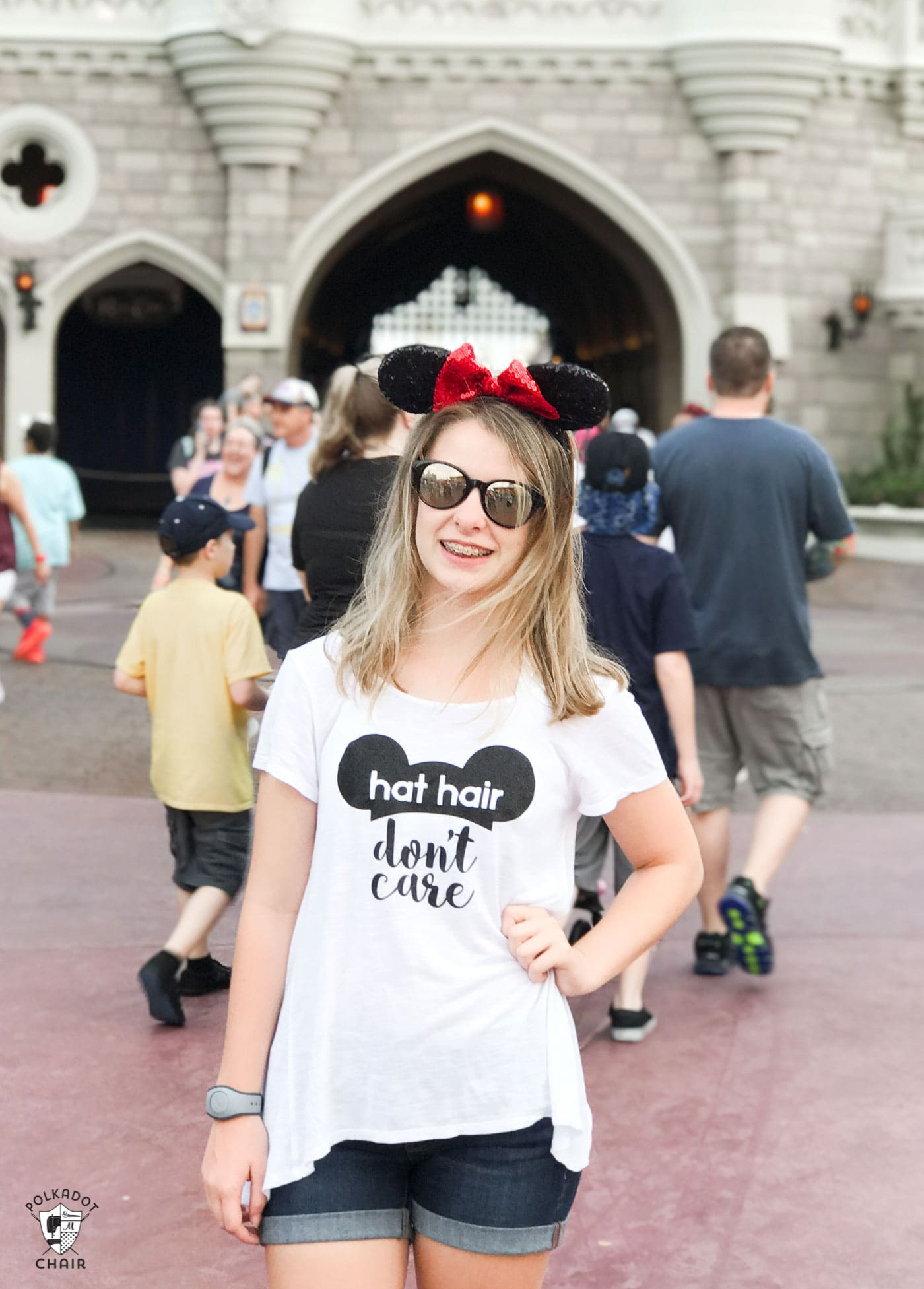 DIY Hat Hair Don't care Disney World t-shirt cut file for Cricut Machine - DIY iron on