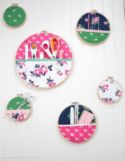 Embroidery hoop pocket organizer the polka dot chair