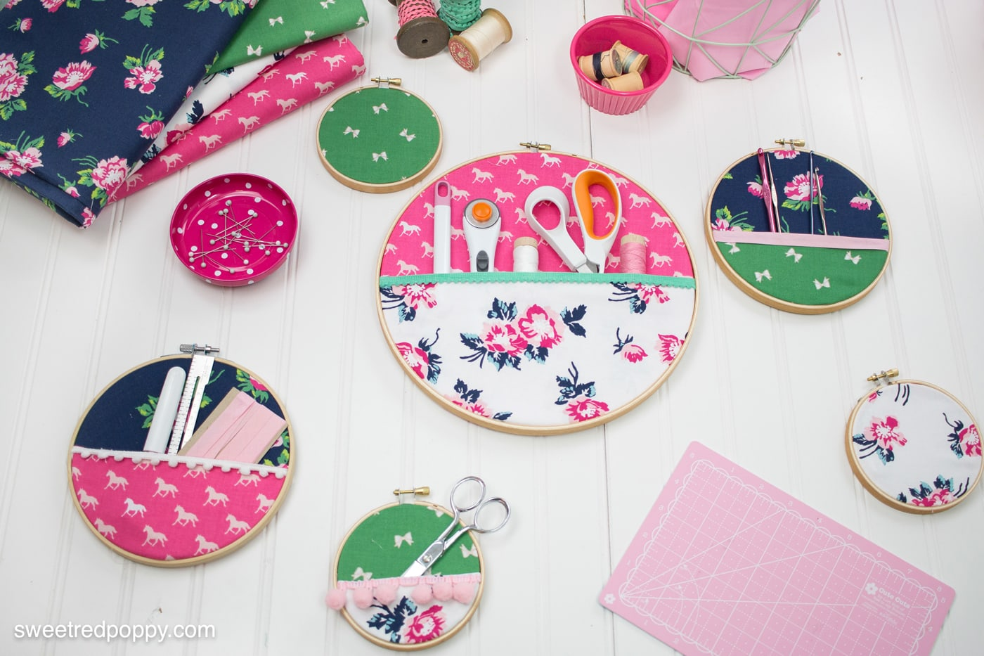 Embroidery hoop wall organizers the polka dot chair