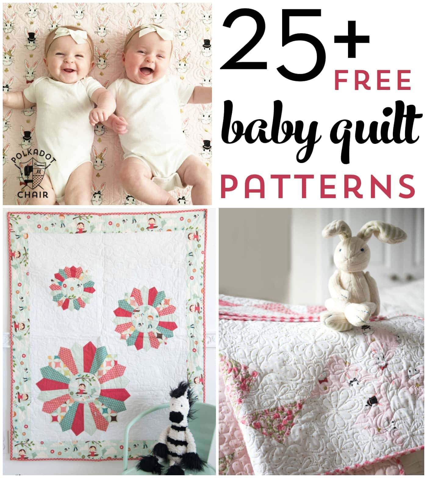 25+ Baby Quilt Patterns | The Polka Dot Chair