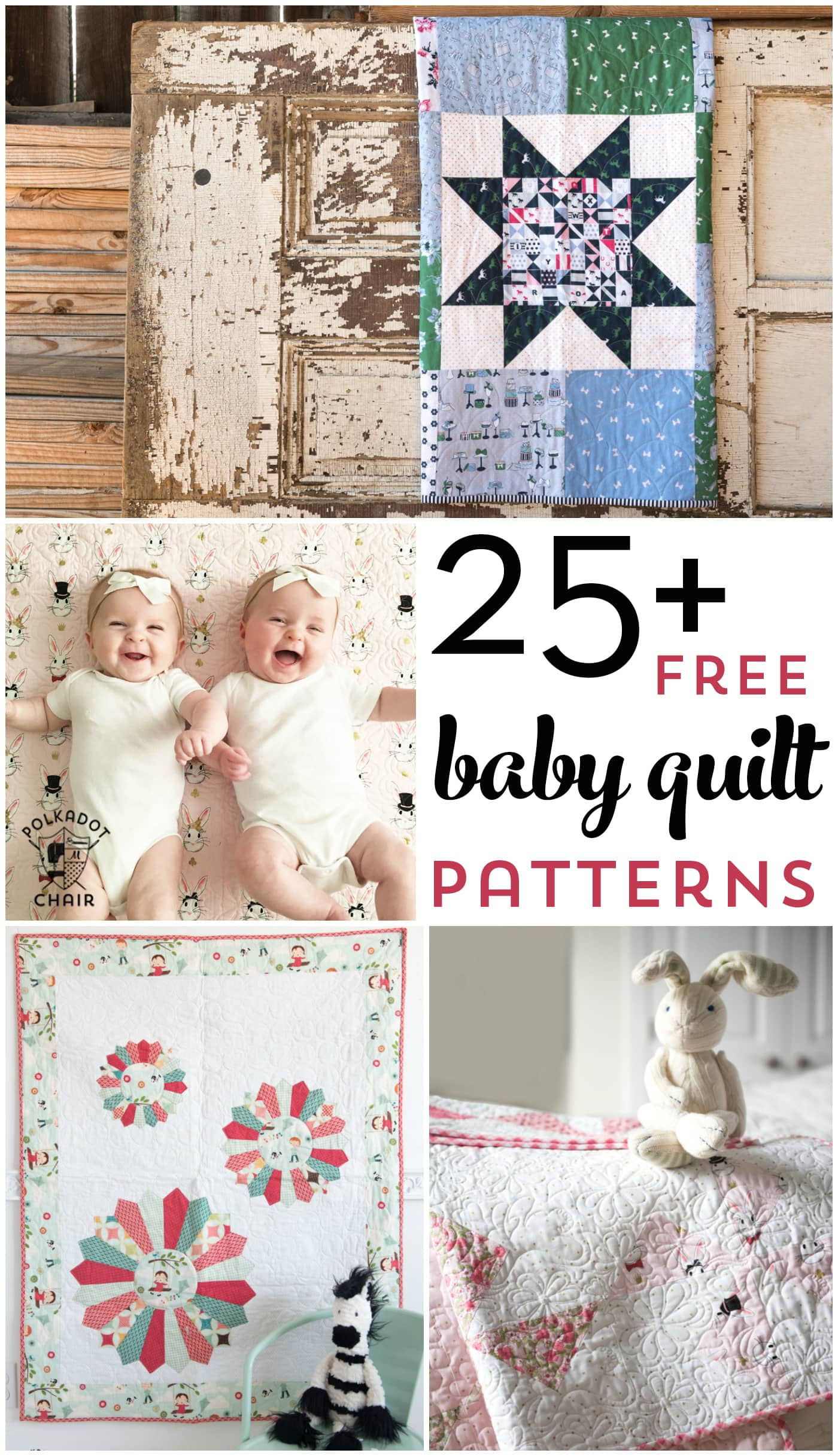 More than 25 free baby quilt patterns.