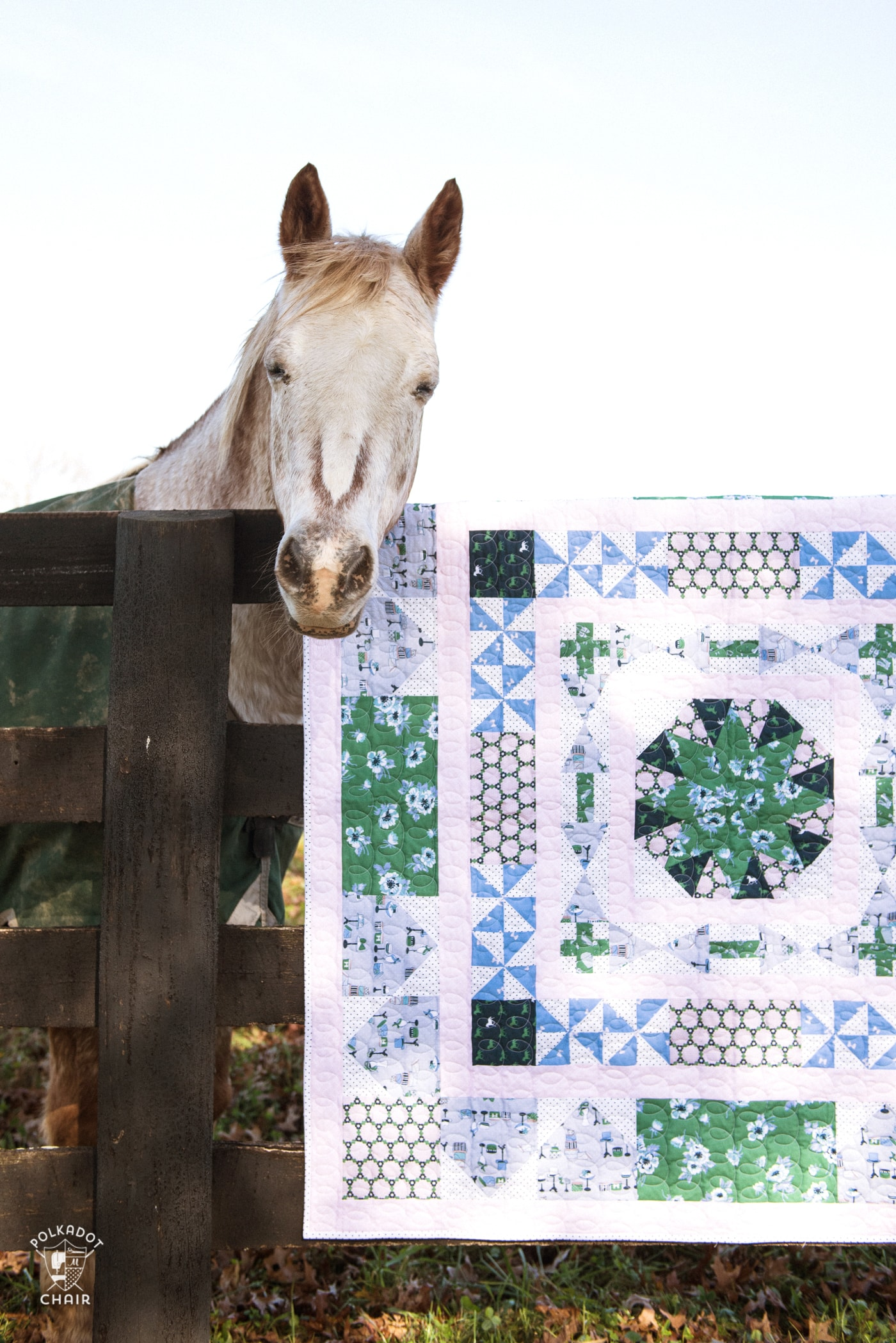 Derby Medallion Quilt Pattern by Erin Harris using Derby Day Fabrics collection